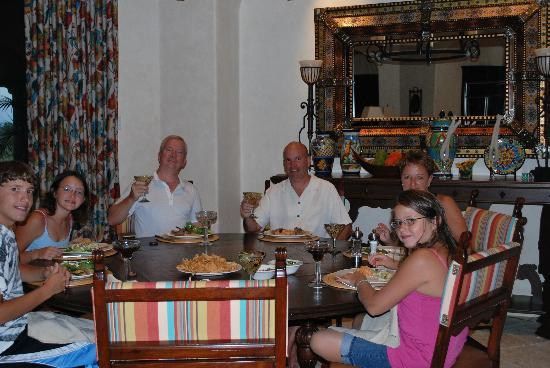 Villas Del Mar at Palmilla: Enjoying a fine meal at our villa