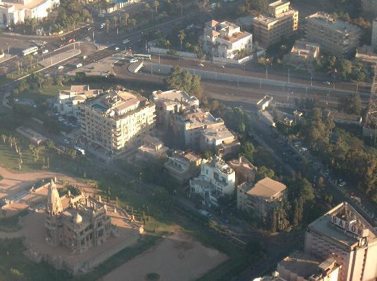 Baron Hotel Heliopolis Cairo: From the aircraft