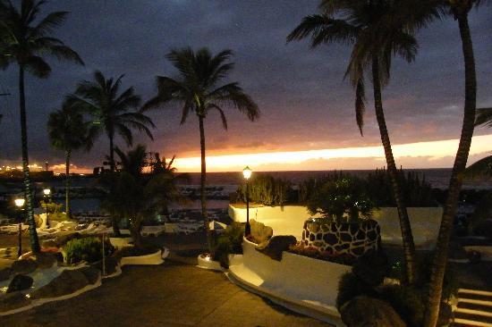 Palmeras Playa: Sonnenuntergang