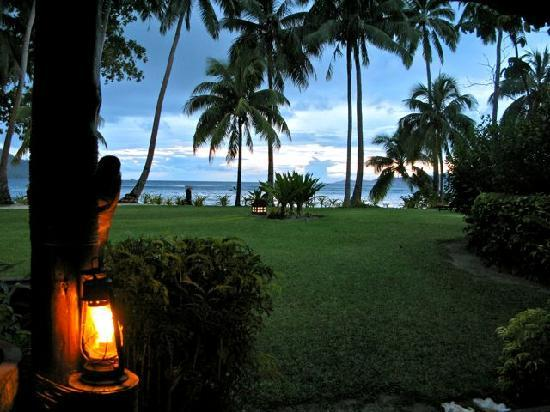 Qamea Resort And Spa Fiji: Dusk View From Our Porch
