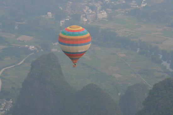 Yangshuo County, China: Ballooning over Yangshuo