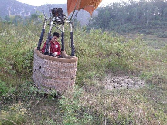 China Hot Air Ballooning: Tiny Basket