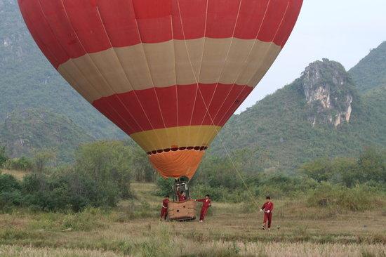 China Hot Air Ballooning: Safe Landing