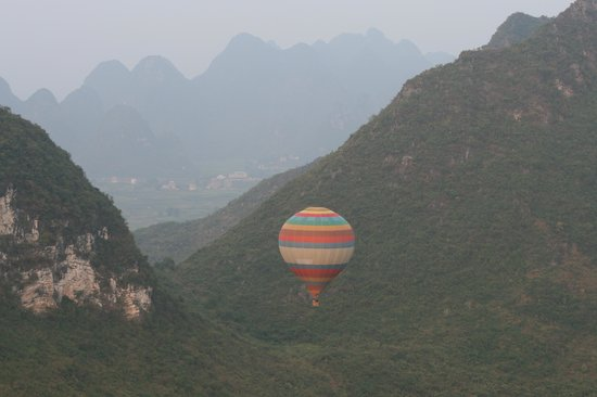 China Hot Air Ballooning: Through the Karst Mountains