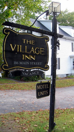 The Village Inn: Inn sign