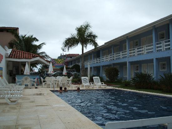 Pousada Azul da Cor do Mar: Innenhof mit Pool