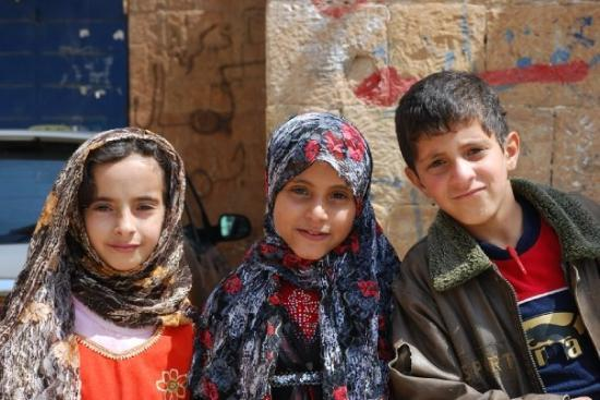 Taiz, Jemen: Children in Hababa