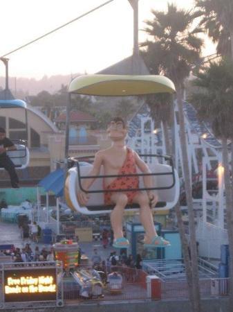 Santa Cruz Beach Boardwalk: He got repainted :)