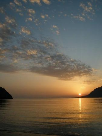 Plakias, Greece: Watching the sun go down from the beach