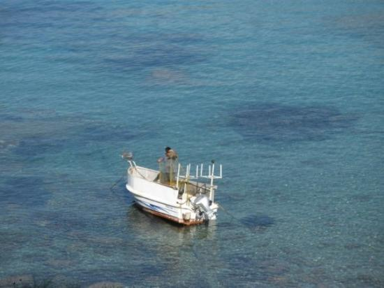 Fishing boat near the far end of Plakias beach