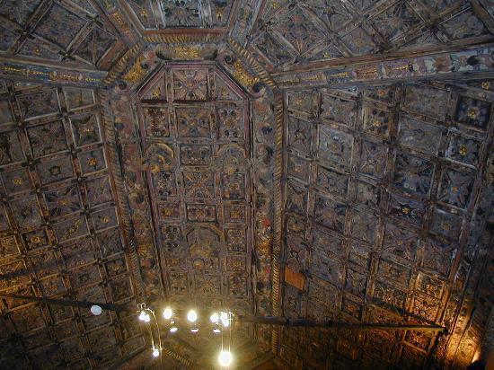 El Sauzal, Spain: Detalle del techo del salón