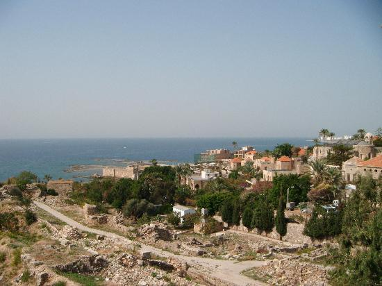 Lebanon: View over Byblos, from the crusader castle