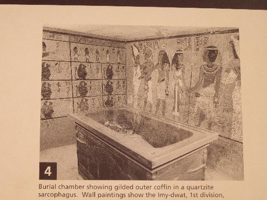 Tomb of King Tutankhamun (Tut): ツタンカーメンのお墓の案内板