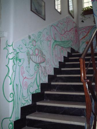 Diana Hotel La Spezia: 客室への階段