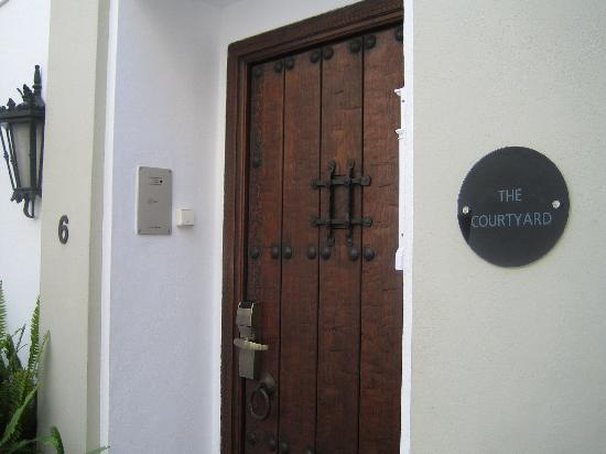 "La Villa Marbella: The door to our ""wee house""."