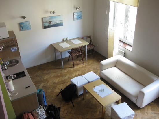 Antique Apartments Plac Szczepanski: Studencka apartment (view from mezzanine bedroom)