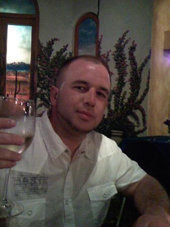 Alexander Restaurant Los Cabos: my man and his vino