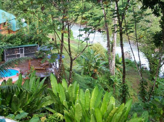 Manoas: View from Villa Paloma balcony