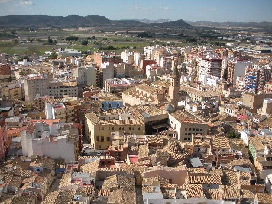 Vistas de Villena desde el castillo