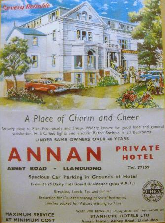 Old Hotel Poster Picture Of Annan Hotel Llandudno