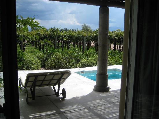 Cavas Wine Lodge: the patio and pool!!