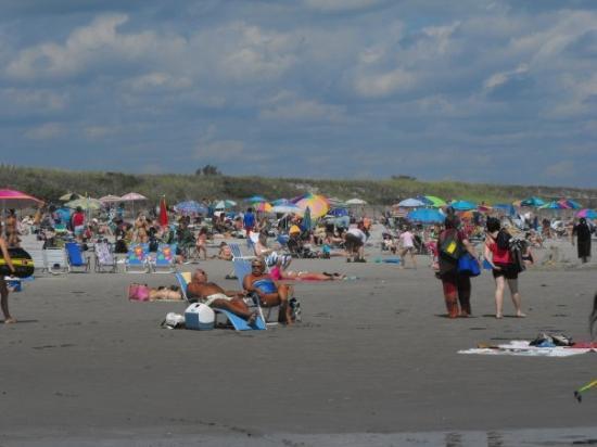 Ogunquit Beach: Ici aussi, on recule quand la marée monte