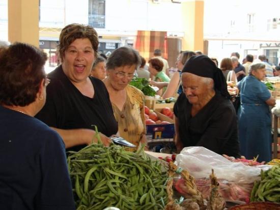 Vegetable market in Amantea.