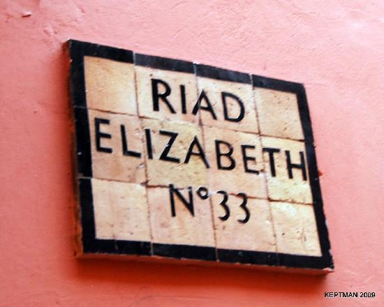 ‪‪Riad Elizabeth‬: Sign Outside the Main Door‬