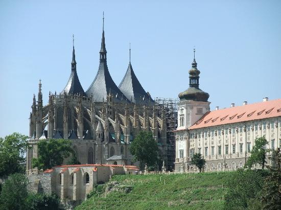 Kutna Hora, Tsjekkia: vue de la cathédrale