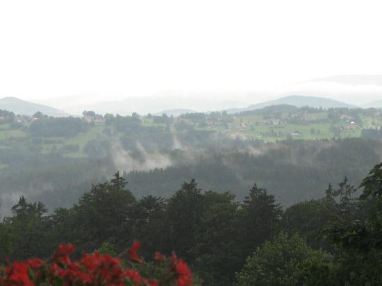 Pension Draxlerhof: View from bedroom balcony overlooking the village