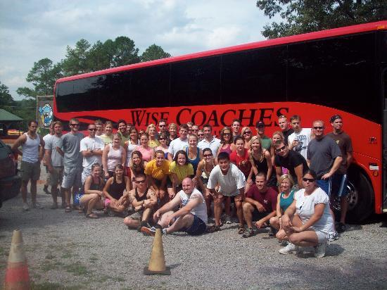 Cherokee Rafting : Here's one of our groups!