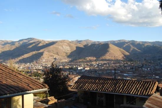 The Blue House Cusco: view from the terrace of the Blue House