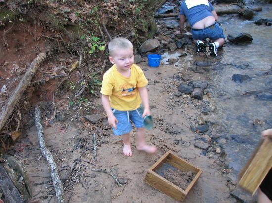 Hiddenite, NC: My son havinga great time!