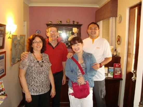 The Noble Grape Guest House: us with Rod & Donna