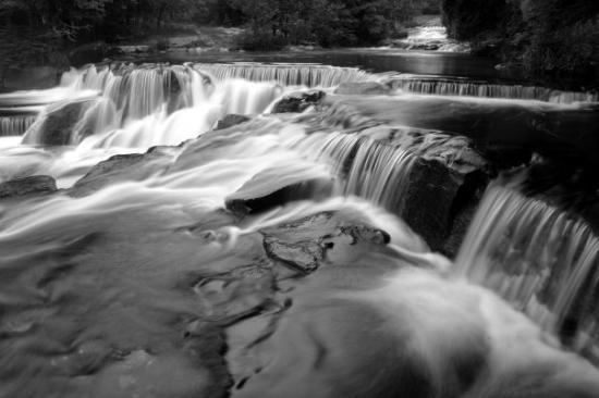 Paulding, MI: Bond Falls. Michigan Upper Peninsula. (2003)