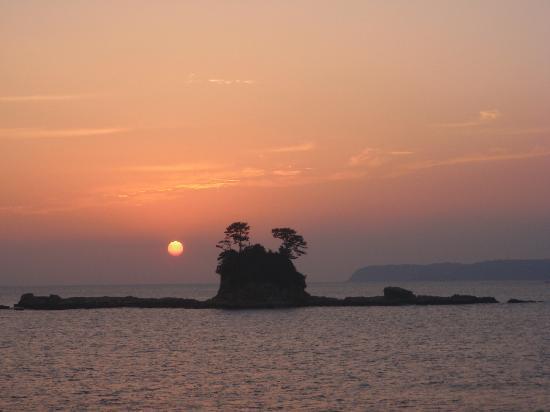 Kujukushima Pearl Sea Resort : 綺麗な夕日です