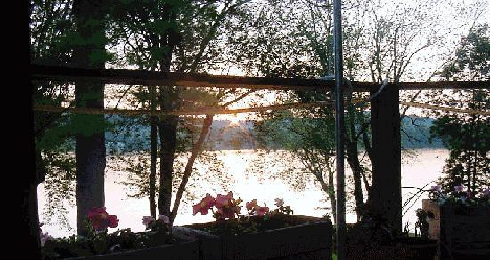 The Lake House: sunset from the deck