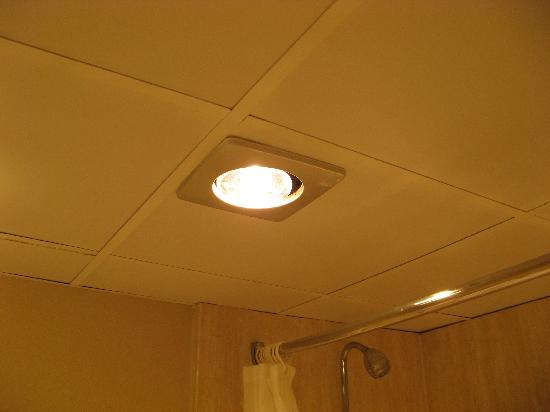 hotel conference center new heat lamp in bathroom that i installed