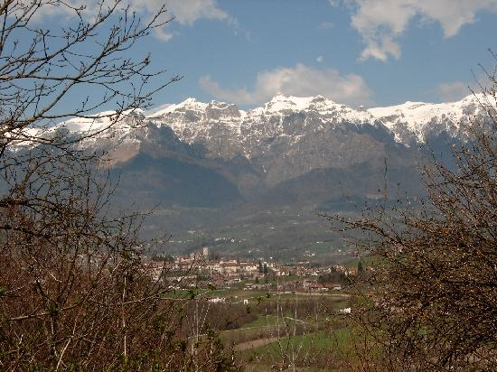 Villa Rosa: View of old town of Feltre from the Villa