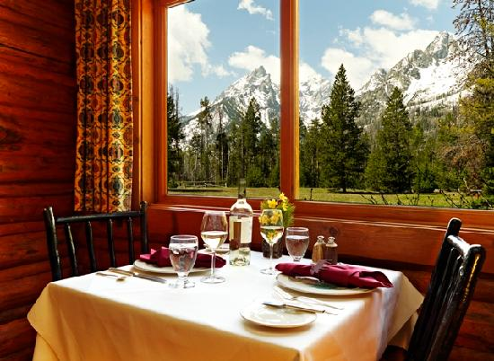 Jenny lake lodge dining room