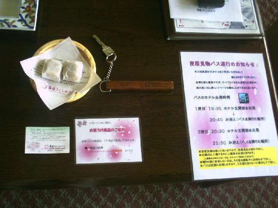 Takato Sakura Hotel : 夜桜バスの案内