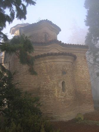 Iglesia de Boyana: Esterni della Chiesa di Boyana tra la nebbia. Copyright Ms Larsen 2006.