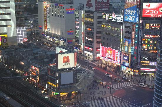 Shinjuku Prince Hotel: Views of Shinjuku streets from hotel room