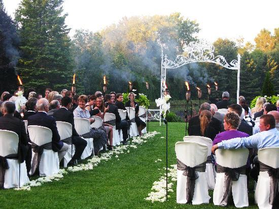 Nestleton Waters Inn: Summer Waterfront Lawn Ceremonies or Year Round Fireside Ceremonies!