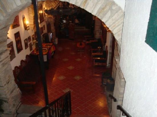 Meson Del Rosario: vista desde las escaleras