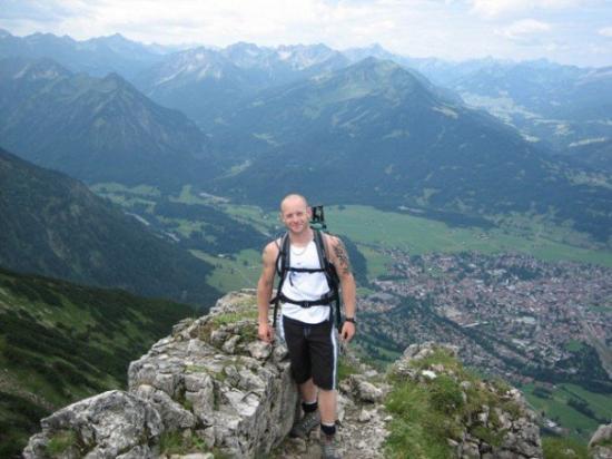 โอเบอร์สดอร์ฟ, เยอรมนี: On the summit of the Rubihorn (1985m), Bavaria, S.Germany Jun 06