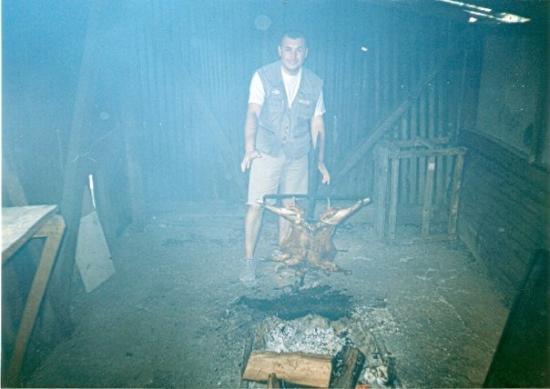 Coyhaique, Χιλή: Un rico asado al palo....