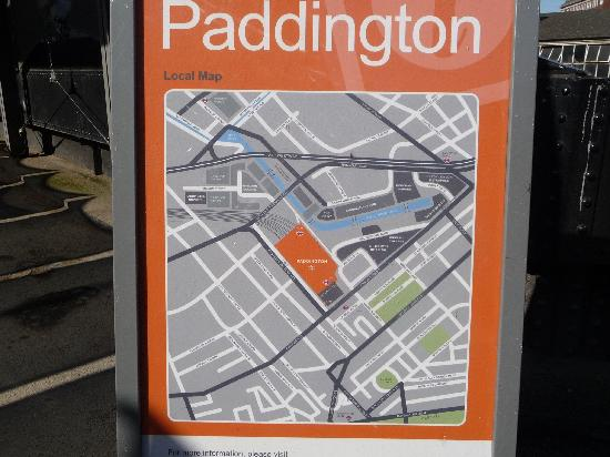 Novotel London Paddington: plan du secteur