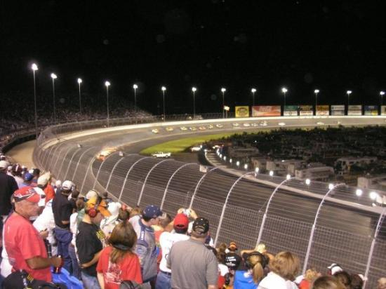 Turn 1 from infield picture of charlotte motor speedway for Lowe s motor speedway