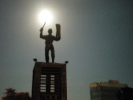 Ambon, Indonesia: ...bulan tarang di lapangan merdeka...
